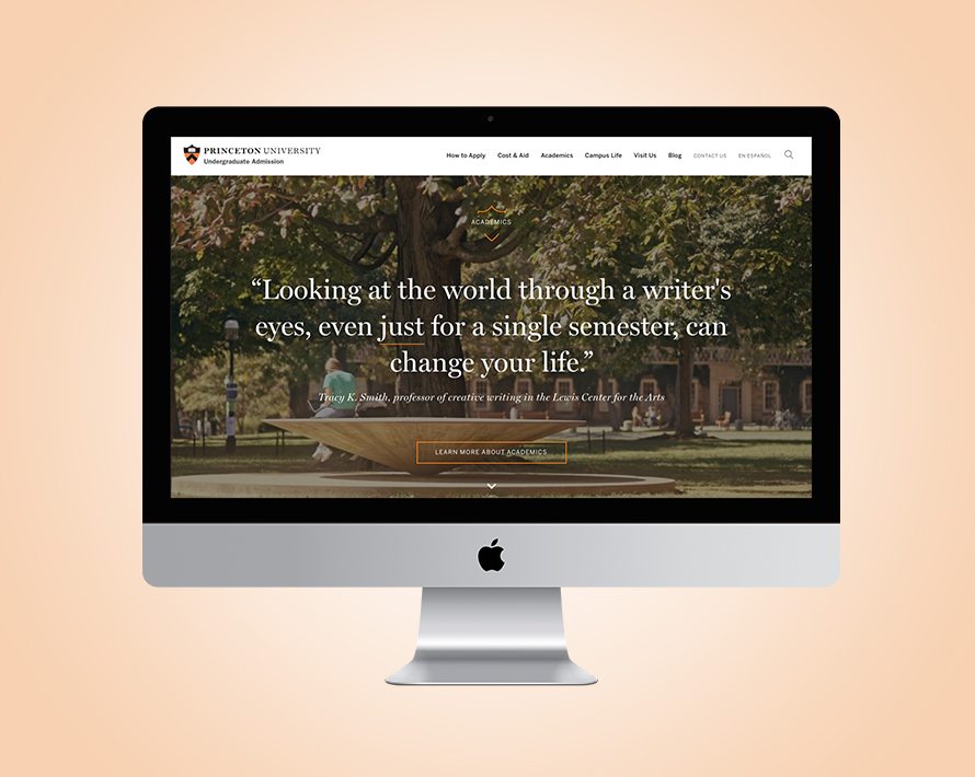 Princeton Admission Website